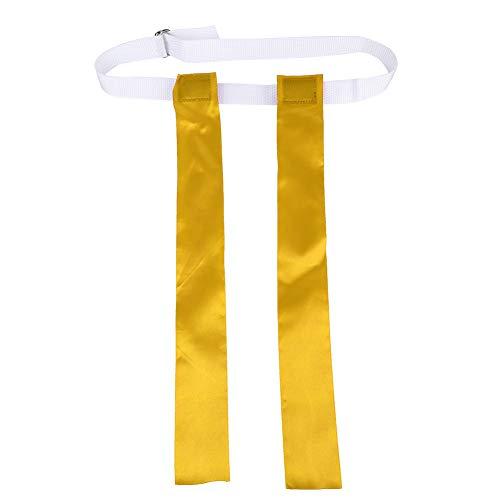 Pwshymi Cinturón de Bandera de fútbol Bandera de Cintura de fútbol Cinturón de fútbol Bandera de Boom sónico Bandera de reemplazo de fútbol(Amarillo)