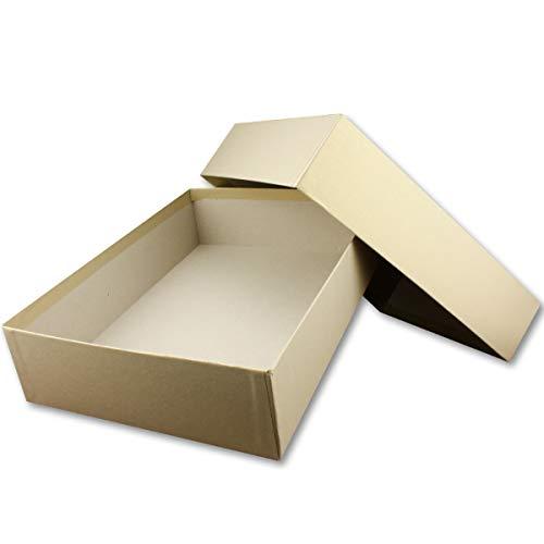 Hochwertige Aufbewahrungs- und Geschenkboxen - 1 Stück - DIN A4 - Gold irisierend schimmernd - 302 x 213 x 70 mm