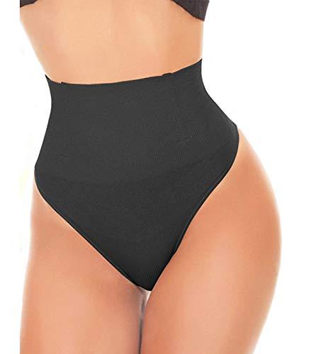 SEXYWG Women Waist Cincher Girdle Tummy Control Thong Panty Slimmer Body Shaper Black
