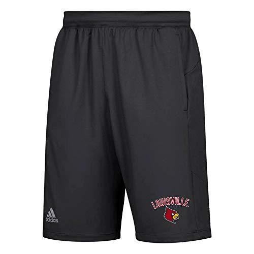 adidas Louisville Cardinals NCAA Men's United Arch Team Logo Black Climalite 10