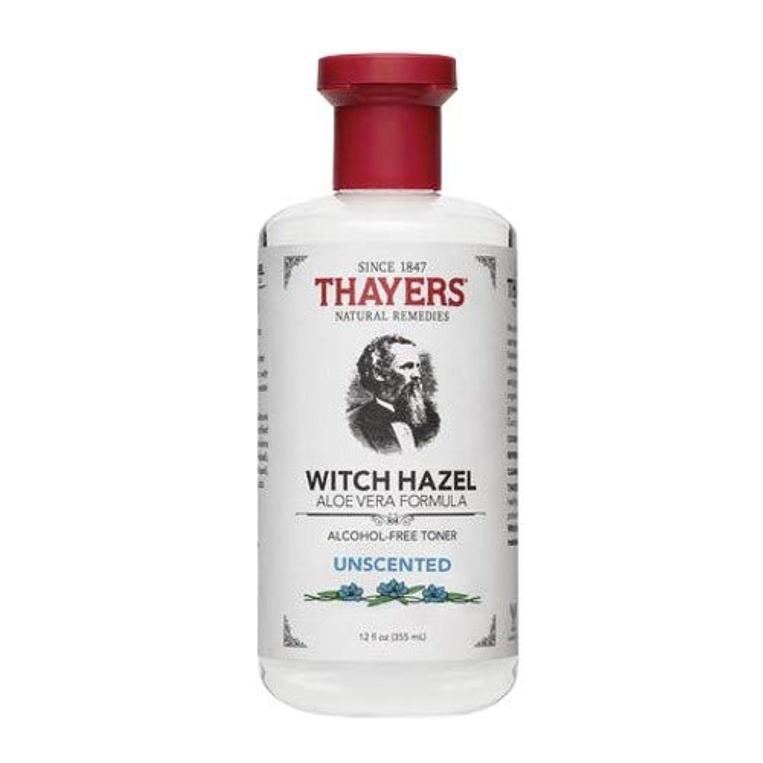 はしご化粧株式会社Thayersアルコールフリー無香料ウィッチヘーゼルトナー( 12oz。)
