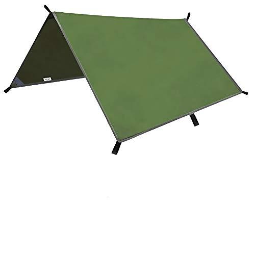Hands DIY 3m x 3m Tent Tarp Hammock Rain Fly Snowproof Camping Shelter Tarpaulin for Outdoor Camping Hiking Travel Waterproof
