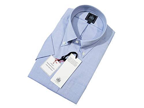 ジェイ・プレス メン『【PREMIUM PLEATS / 形態安定】ピンオックスボタンダウン 半袖シャツ』