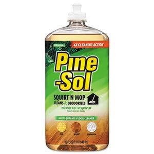 Pine-Sol Squirt 'n Mop Multi-Surface Floor Cleaner, 32 Oz Bottle, Original Scent