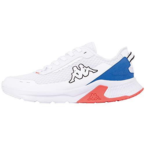 Kappa Tuelo Unisex, Scarpe per Jogging su Strada Adulto, 1060 White Blue, 43 EU