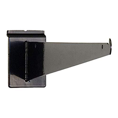 KC Store Fixtures A01715 Slatwall Shelf Bracket, 16', Black (Pack of 25)