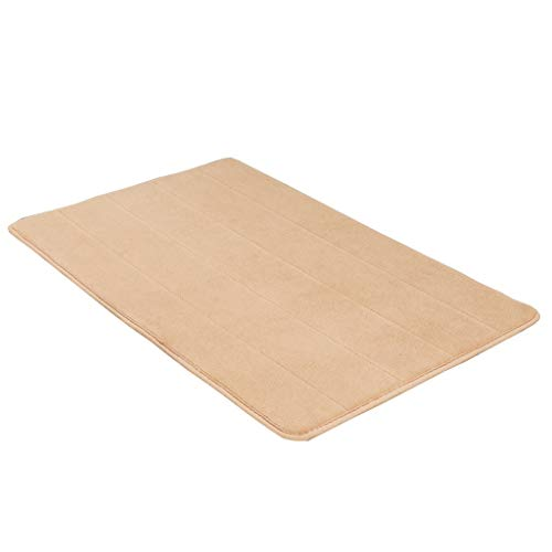 Best Review Of Rug Bathroom Anti-Skid mat Double Anti-Slip Effect (Color : Camello, Size : 5080cm)
