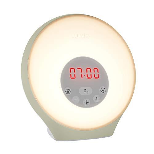 Lumie Sunrise Alarm - Sunrise Wake-up Alarm, Sunset Sleep Feature, Sounds & Mood Lighting
