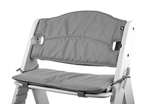 Tinydo® Hochstuhl-Sitzkissen optimal für Hauck Alpha und ähnliche Treppenhochstühle 2teilg. Set mit Memory-Schaum-Dämpfung Sitzverkleinerer-Auflage für Babystühle rutschfest, pflegeleicht (Hellgrau)