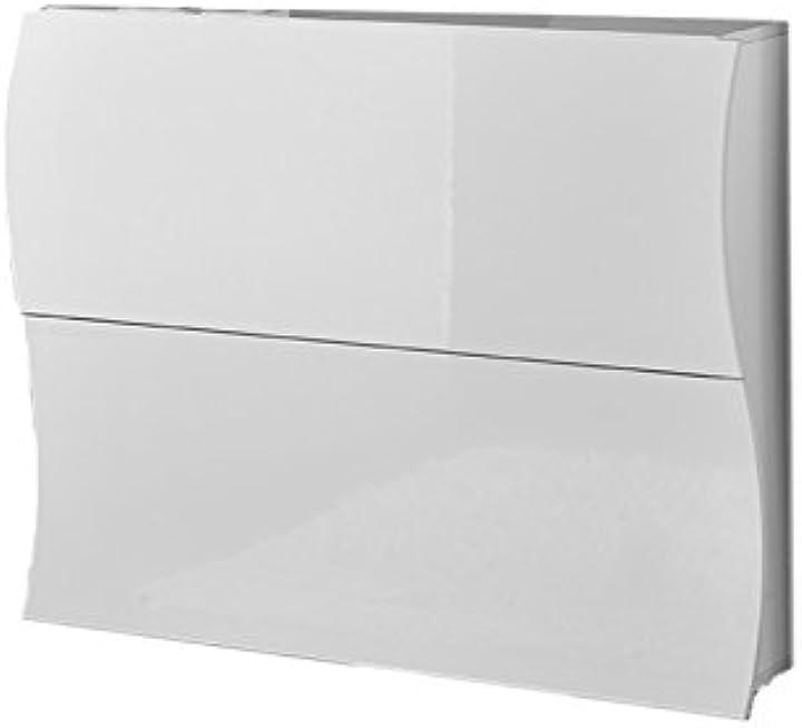Scarpiera ad onda moderna 2 ante legno bianco lucido webconvenienza 484600
