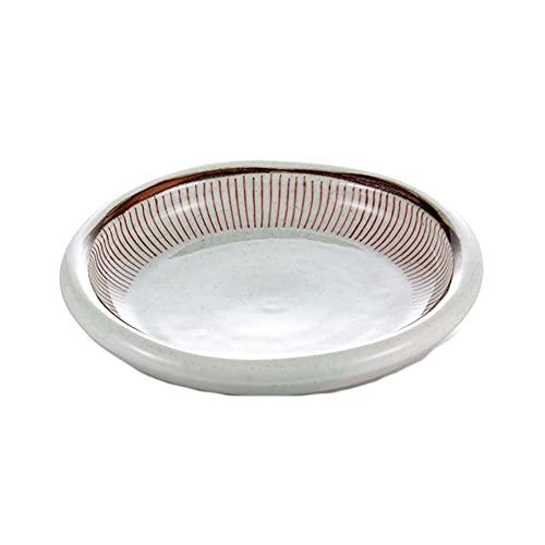 Caijiecaip Platos Llanos Placas de Cena de Porcelana de 15 * 4 cm, Placas de porción de Pasta, Estilo clásico Postre Platos de Postre (Color : A)