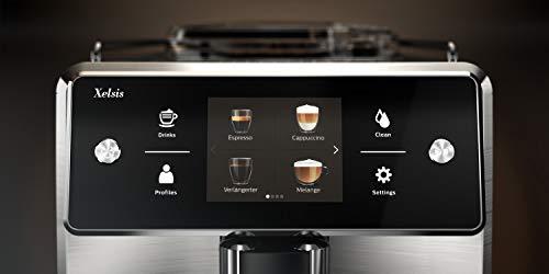 Saeco SM7683/10 Xelsis Kaffeevollautomat 15 Kaffeespezialitäten (Touchscreen, 6 Benutzerprofile), 18/8, Edelstahl/Schwarz - 6