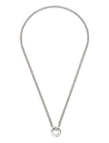 Jewels by Leonardo DARLIN'S Damen-Halskette Simpatico, Edelstahl mit Verbindungsring und Maxi-Clip, Clip & Mix System, Länge 700 mm, 015531
