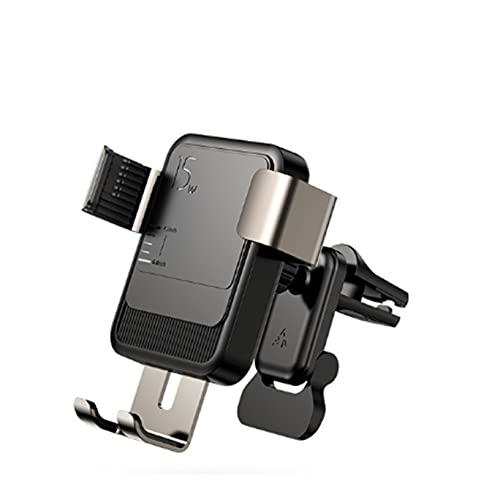 JUSU Store 15W Qi Holder Wireless Car Titular Cargador Inteligente Infrarrojo Fast Cargador Soporte Soporte para Car Pelo Ajuste para iPhone Huawei Xiaomi (Color : Air outet)