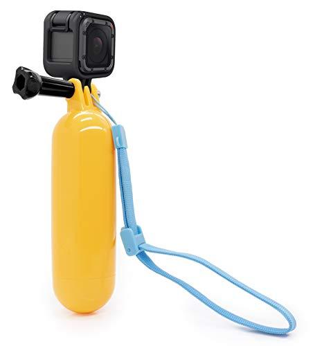 MyGadget Impugnatura Galleggiante Waterproof per Action Camera - Hand Grip Immersione Subacquea - Selfie Stick per GoPro Hero 8 7 6 5 4, Xiaomi Yi 4K