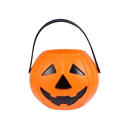 XIALIMY Decoración de Halloween 20 PCS Cubo de Calabaza de plástico con Estilo de Rendimiento Elegante Sweet Holder for Halloween Party Organizer Box(Estilo de Ojo Aleatorio)