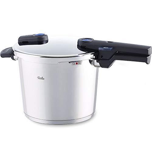 Fissler vitaquick / Olla a presión (6 litros, Ø 22 cm) acero inoxidable, 2 niveles de cocción, adecuado para la inducción