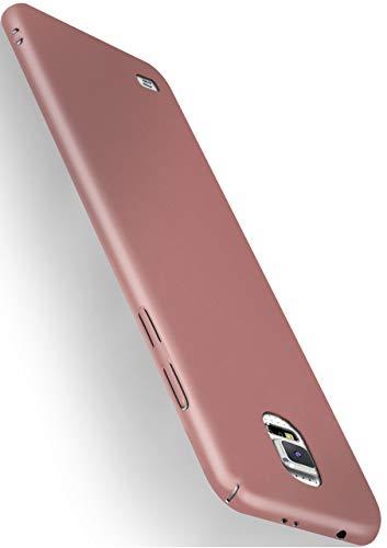 moex Alpha Hülle für Samsung Galaxy S5 / S5 Neo Hülle Stoßfest & Leicht Handyhülle Extra Dünn, Super Slim Schutzhülle Ultra Air Hybrid PC Hardcase aus Kunststoff - Rosegold