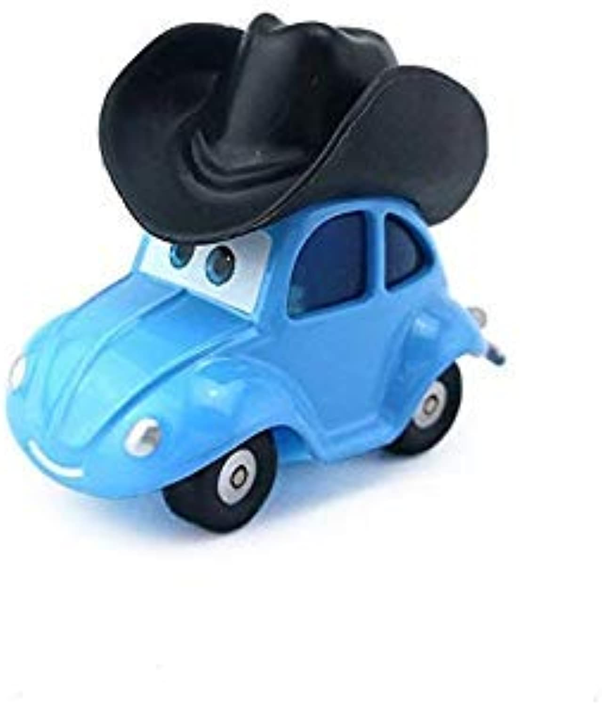 Pixar Cars Flik with Cowboy Hat Metal Diecast Toy Car 1 55 Loose in Stock &