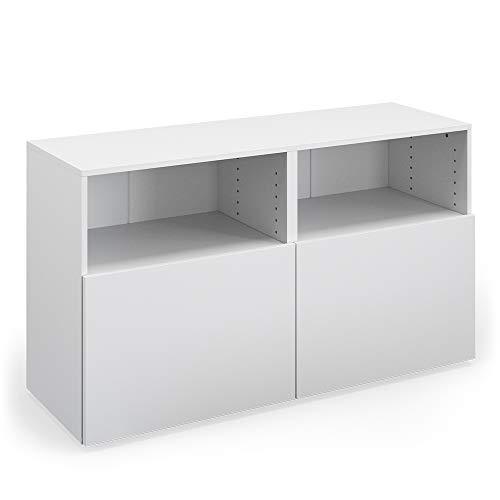 Vicco Sideboard Compo Highboard dressoir commode multifunctionele kast (wit/wit)