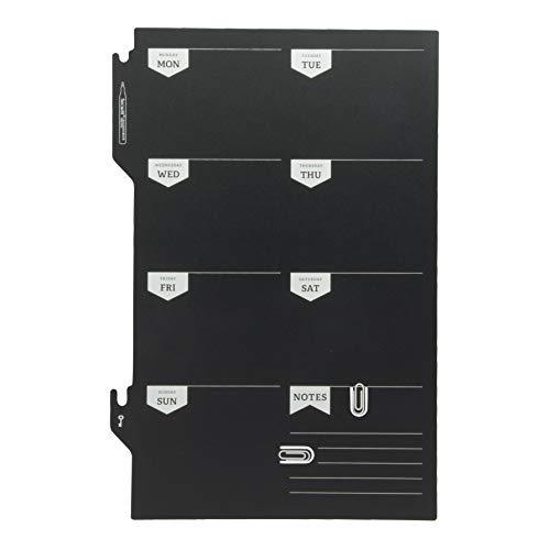 Securit Silhouette Week Planner Krijtbord, Zwart, 45 x 30 x 0,3 cm