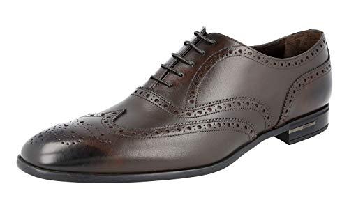Prada Herren Braun Budapester Leder Business Schuhe 2EC121 Z4C F0003 44.5 EU/UK 10.5