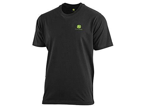 John Deere Herren T-Shirt mit Logo vorn und hinten (Schwarz, M)