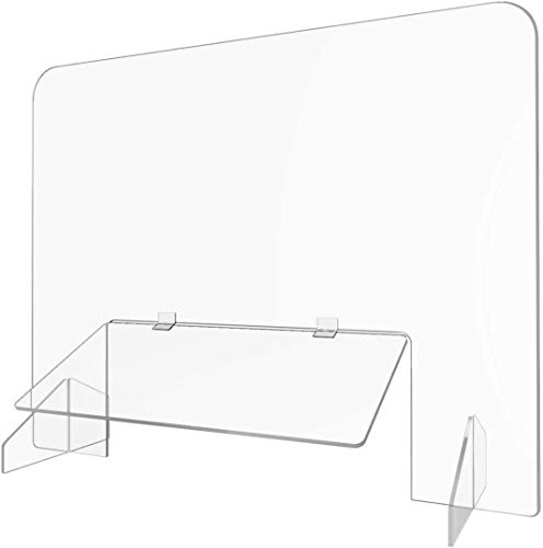 Protective Sneeze Guard for Desk(30' W x 24' H),Sneeze Guard for Counter,Social Distancing Arcylic Shield for Business and Customer Safety to Keep Safe Distance Used in Desk, Checkout&Reception