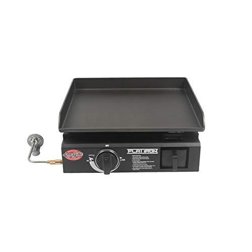 "Char-Griller 8217 Flat Iron Portable 17"" Gas Griddle, Black"