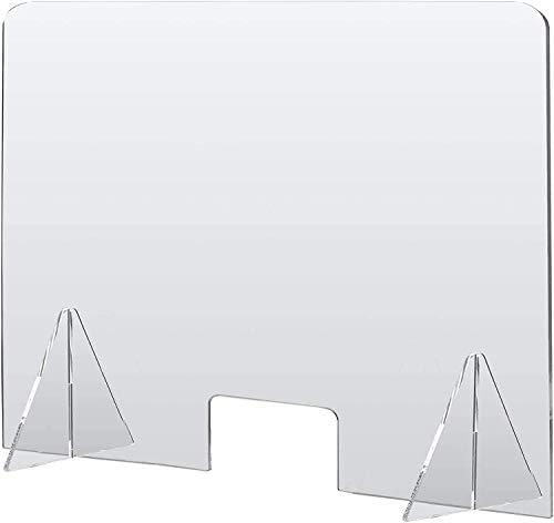 Mampara de Metacrilato mostrador 4mm Protección para oficinas Mostradores Manicura Sobremesa Material Transparente (75x75) metacrilato de alta transparencia