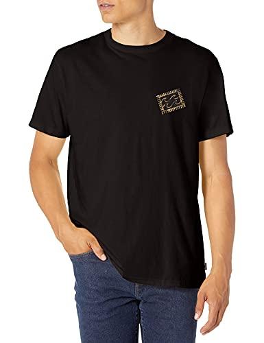 Billabong Men's Short Sleeve Premium Logo Graphic T-Shirt, Crayon Wave Black, X-Large