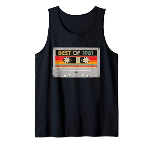 Best Of 1981 40th Birthday Gifts Cassette Tape Vintage Tank Top
