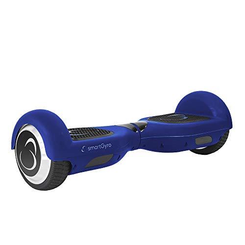 SMARTGYRO X2 Patinete Eléctrico Hoverboard, Antipinchazos, Batería de Litio 4400 mAh, Velocidad Máxima 12 Km/h, Certificado UL, Unisex Niños, Azul, 6.5 Pulgadas