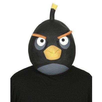 Angry Birds Black Latex Costume Mask