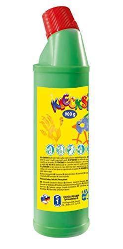 Feuchtmann Spielwaren 63306017 - KLECKSi 900 g hochwertige Fingermalfarbe - grün, Fingerfarbe in Flasche ideal für Kindergarten, Kita, Schule, Hort und soziale Einrichtungen