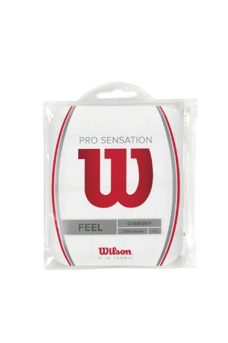 Wilson Pro Overgrip Sensation Empuñadura, 12 Unidades, Unisex, Blanco, One Size