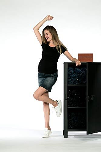 Love2Wait Sarah Jeans B999004 - Falda premamá para mujer, color gris oscuro Dark Wash 34 ES (tamaño fabricante:27W)