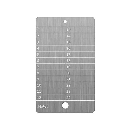 Bitcoin Wallet Stahl,Kryptowährung Brieftasche für Hardware Cold Wallet Backup,Bitcoin Crypto Cryptocurrency Seed Storage Kompatibel mit der gesamten BIP39-Hardware(single)