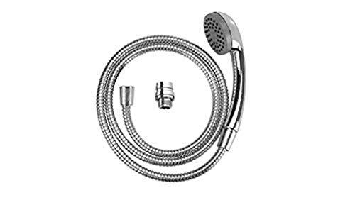 WENKO Manguera de ducha para lavabo universal - Ducha de mano móvil con manguera de ducha hecha de acero fino, Plástico (ABS), 170 x 3.5 x 6.5 cm, Cromo brillante