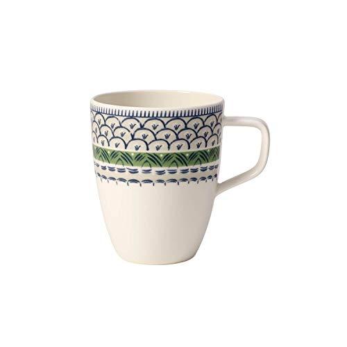 Villeroy & Boch Casale Blu Bella Mug à café, 380 ml, Porcelaine Premium, Blanc/Vert