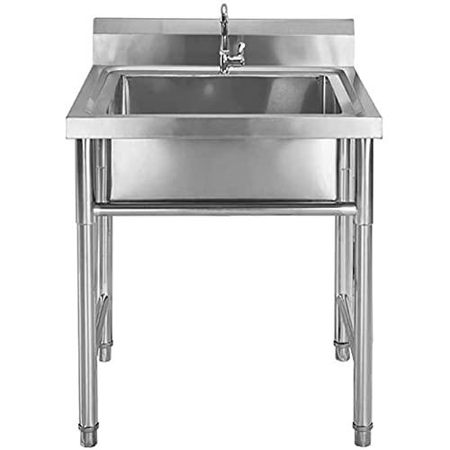 JPSHBA tazón de Acero Inoxidable Fregadero,el hogar Fregadero para Uso General Fregadero,Profesional para Catering para Bar Cocina Restaurante