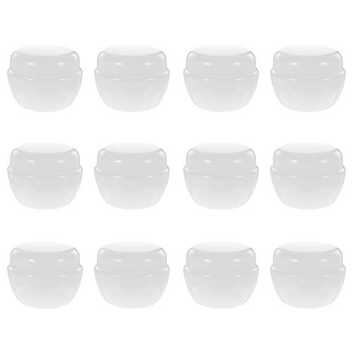 PIXNOR 12 Pzas Mini Tarro de Cosméticos Redondo Vacío Envases de Muestra de Cosméticos Botella de Maquillaje de Viaje Olla de Cosméticos con Tapa de Rosca para Cremas Balms Lociones 30G