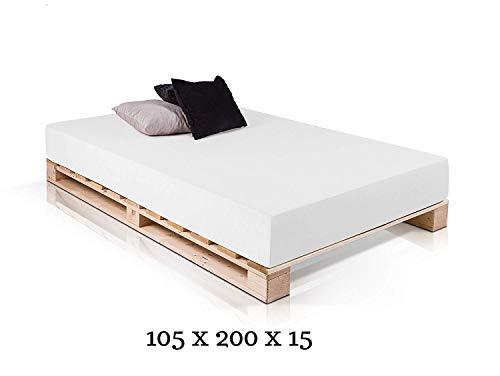 Dydaya Cama de Palets de 105 x 200 x 15 Color Madera & Somier & Somieres & Base & Bases & Estructura & Estructuras