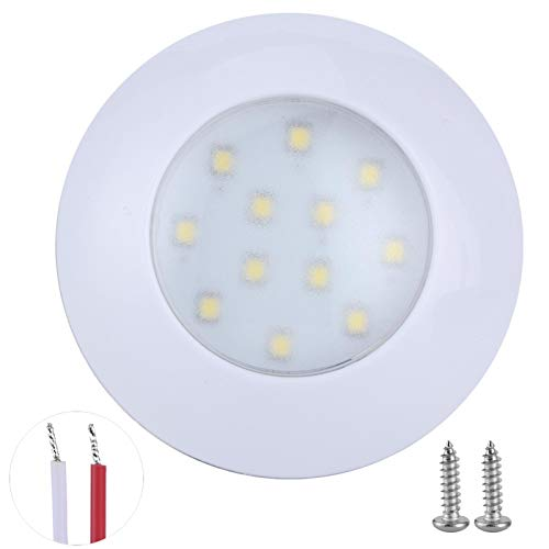 Fydun Car Dome Light 12 LED RV Interior Domo Light 5000‑6000K 2.4W 240LM Lámpara de techo de automóvil IP67 75mm 12V / 24V