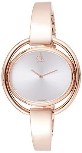 Calvin Klein K4 °F2 N616 - Reloj de cuarzo para mujer con esfera analógica negra