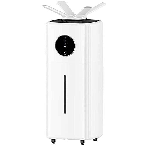 vfvfvf Humidificadores Industrial, Cool Mist Dormitorio Piso Tipo Aire Ultrasónico Inteligente Humedad Constante Pantalla LED Universal Rueda 21L
