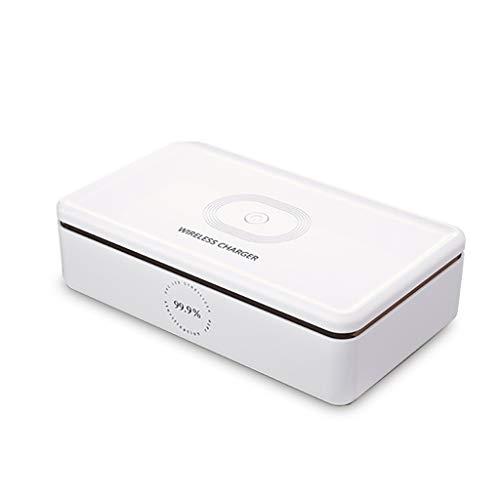 UVsterilisator Mobile Phone Tandenborstel UVC Sanitizer Box Aromatherapie Disinfector USB Wireless desinfectie Charger