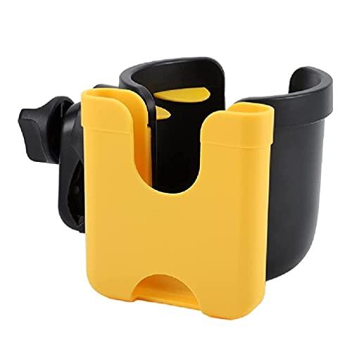 laimoere Stroller Parent Cup Holders, Universal Bike Cup Holder, 2-in-1 Bottle Holder with Phone Holder for Stroller, Bike, Wheelchair, Walker, Pushchair