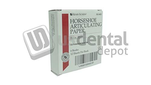 HS - Horseshoe Red/Blue 6 books ×12 sheets- 89µ Articulating Paper #100-9405 [ papel de articular ] HS - Horseshoe Rojo/Azul 6 books ×12 sheets- 89µ Articulating Paper #10 102780 Us Dental Depot