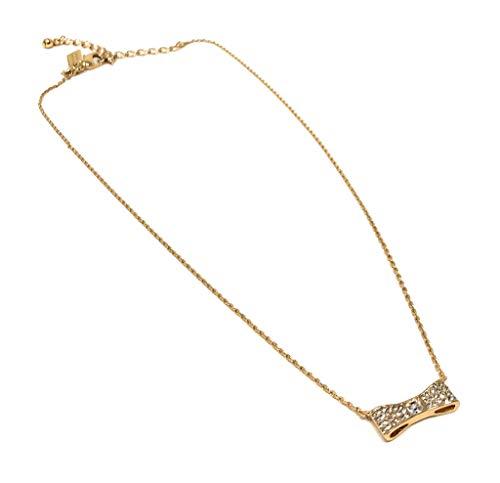 Kate Spade Sparkling Bow Mini Pendant Necklace, Golden